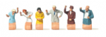 Merten 0212525 Scale: 1:87, HO Waving Passengers (6) Figure Set
